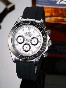 Đồng Hồ Rolex Nam dây cao su mặt trắng  giá rẻ