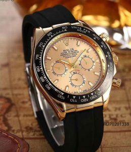 Đồng Hồ Rolex Nam dây cao su mặt vàng giá rẻ