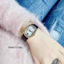 Đồng hồ Versace New Couture Demi new nữ dây da đen