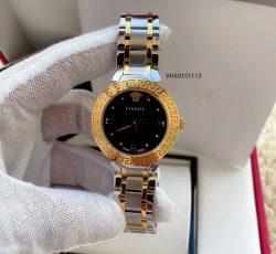 Đồng hồ Versace Black Daphnis nữ dây kim loại cao cấp
