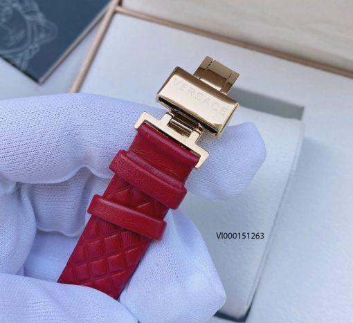 Đồng hồ Versace Mini Vanitas Micro Analog Display Swiss Quartz Red máy thụy sĩ