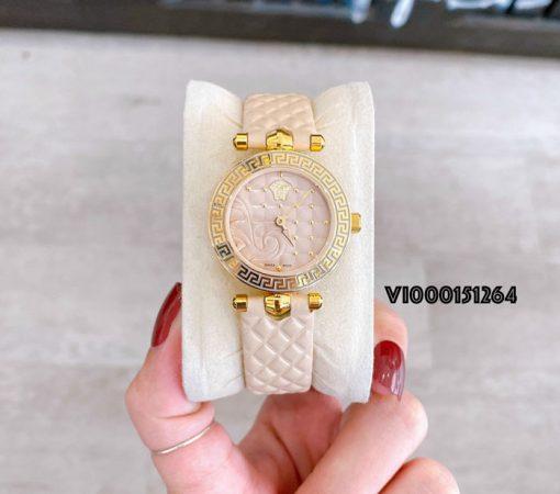 Đồng hồ Versace Mini Vanitas Micro Analog Display Swiss Quartz Beige