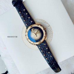 Đồng hồ Versace Shadov dây da mặt khói cao cấp