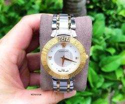 Đồng hồ Nữ Versace Daphnis Demi mặt tròn khảm trai dây kim loại cao cấp