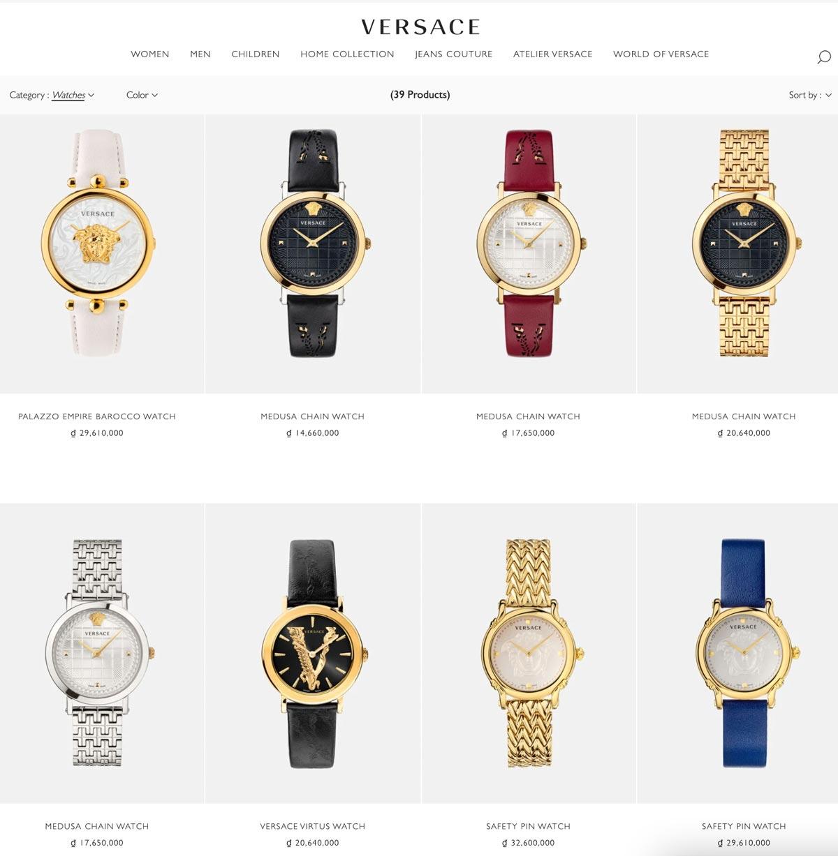 Đồng hồ versace chính hãng ở đâu uy tín tphcm