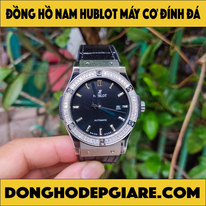 Đồng hồ Hublot nam máy cơ đính đá cao cấp
