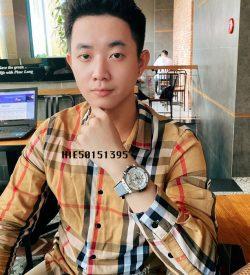 Đồng hồ Nam Hublot Big Bang đính đá dây cao su xám cao cấp