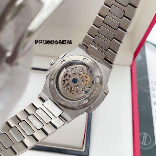 Đồng hồ Patek Philippe Nautilus nam cơ lộ máy dây kim loại cao cấp