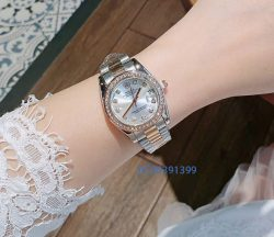 Đồng Hồ Rolex nữ size mặt mini viền đính đá giá rẻ