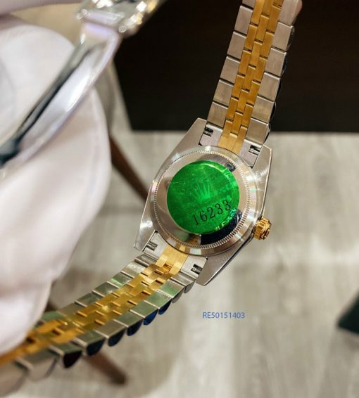 Đồng Hồ Rolex Oyster nữ dây demi mặt xanh cao cấp