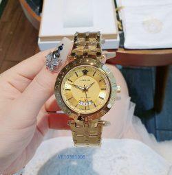 Đồng hồ Nam Versace dây kim loại vàng giá rẻ