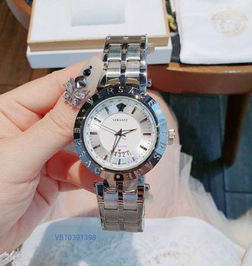 Đồng hồ Nam Versace dây kim loại bạc giá rẻ