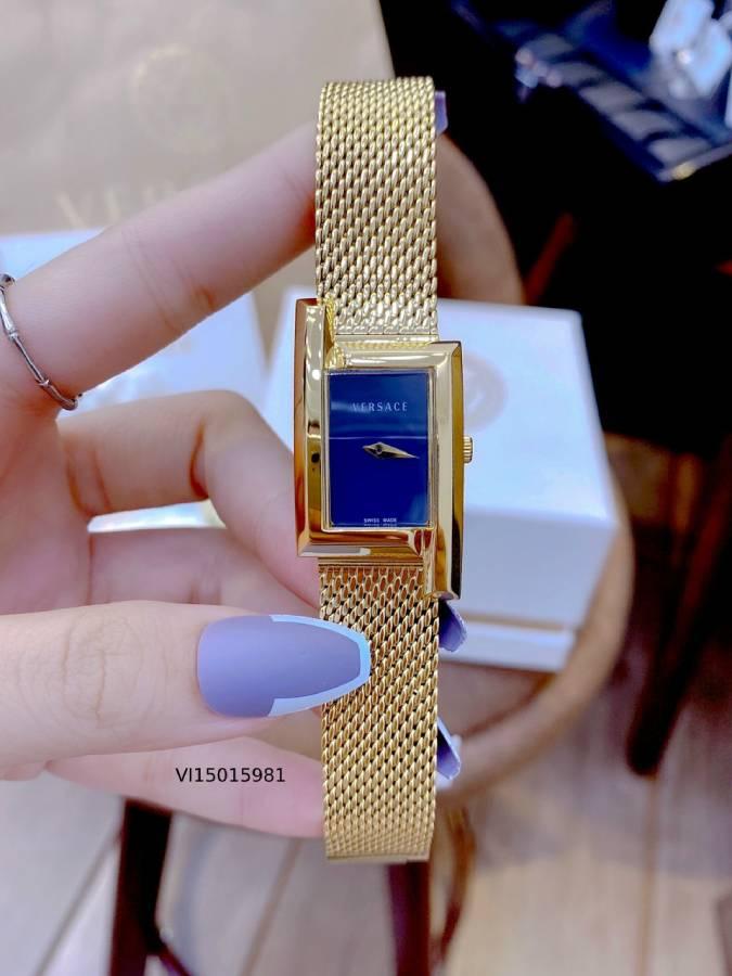 đồng hồ versace nữ dây kim loại mặt vuông