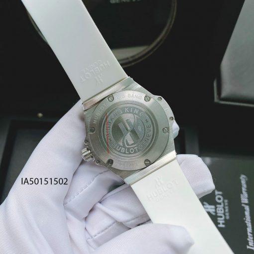 đồng hồ hublot nữ dây màu trắng đính kim cương