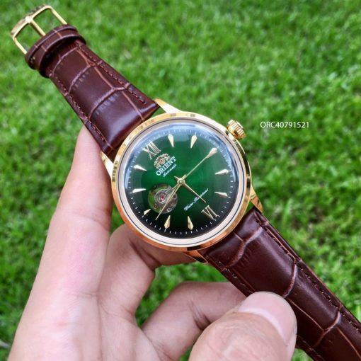 Đồng hồ cơ Orient automatic nam máy lộ cơ dây da giá rẻ